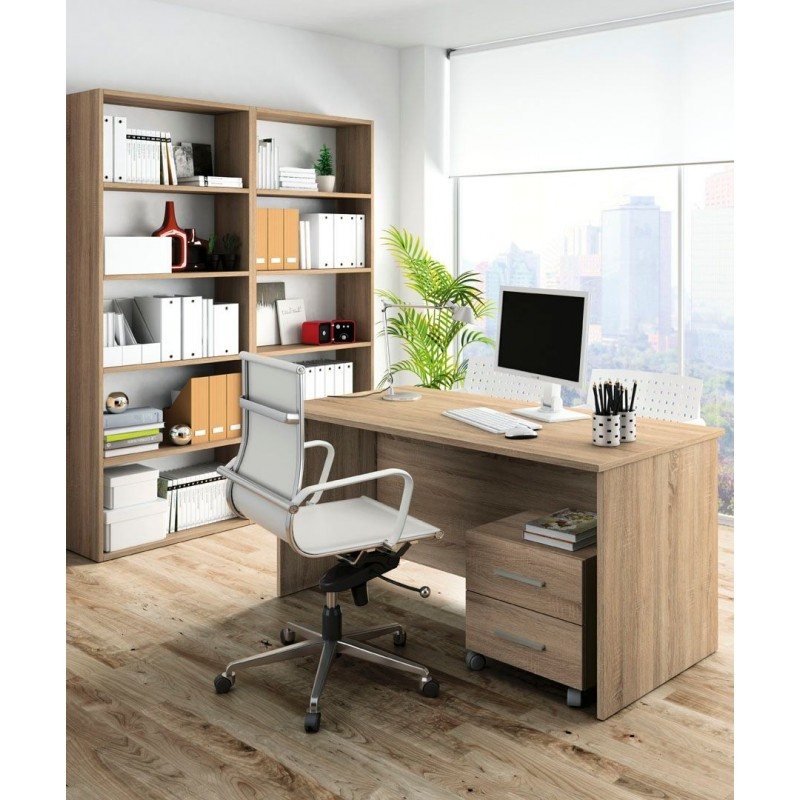 Mesa despacho cajonera estanterias mercat del moble for Precio mesa de despacho