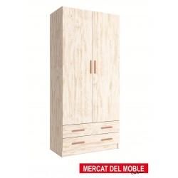 Armario 2 puertas con cajones kit